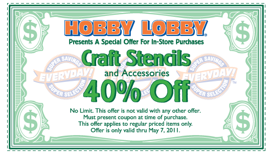 Hobby Lobby Coupons and Tips February 2012 | Coupon Kip ...