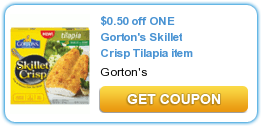 $  0.50 off ONE Gorton's Skillet Crisp Tilapia item