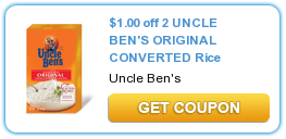 $  1.00 off 2 UNCLE BEN'S ORIGINAL CONVERTED Rice