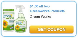 $  1.00 off 2 Greenworks Products